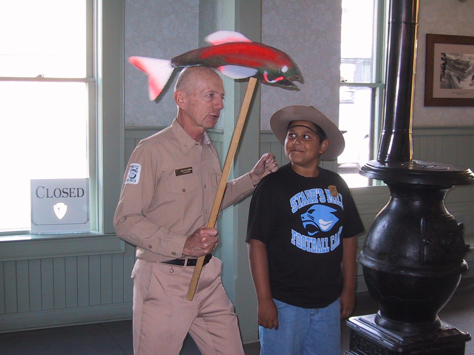 Carlton does the Jr Ranger Thing