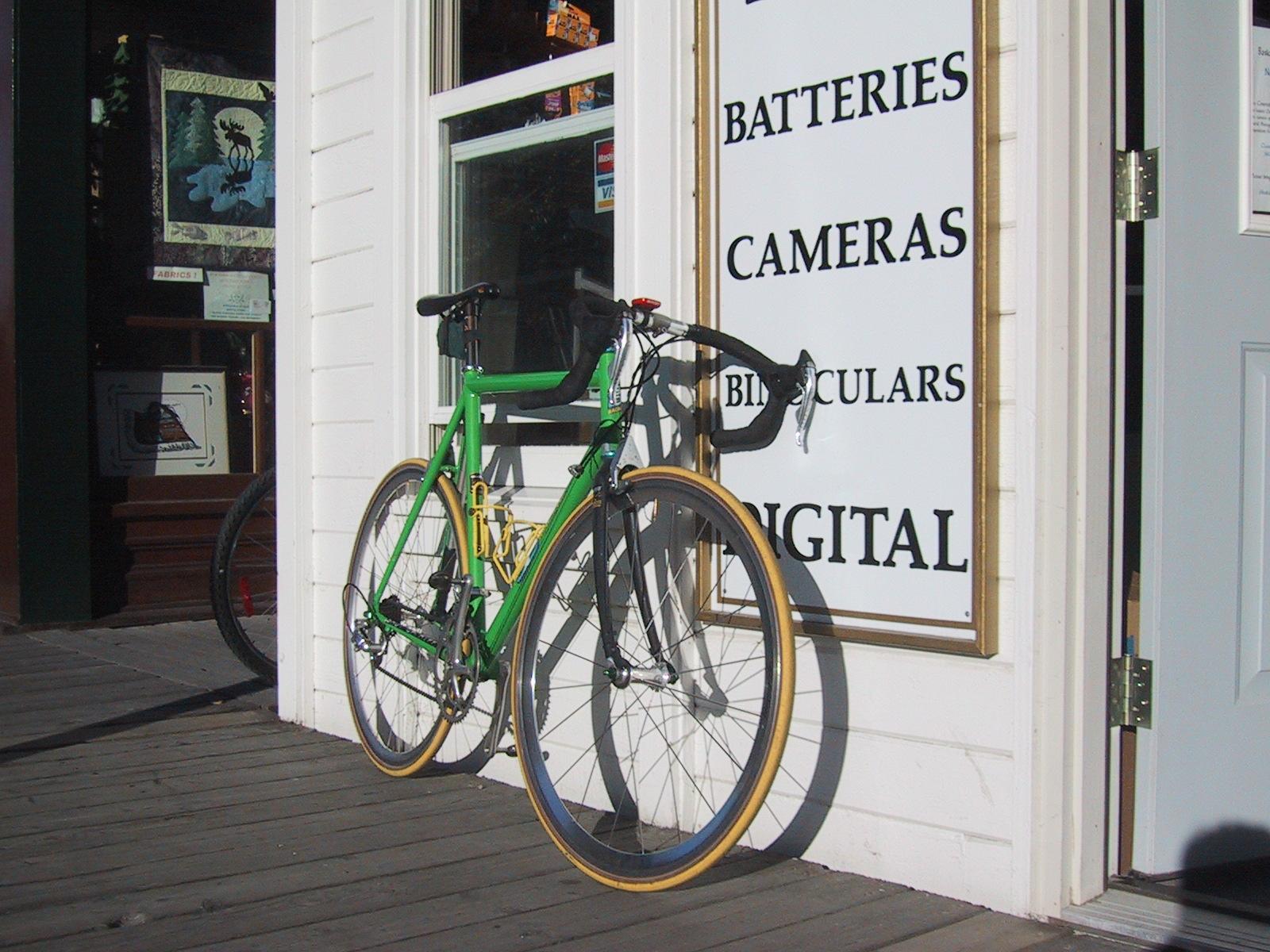Bike outside camera store