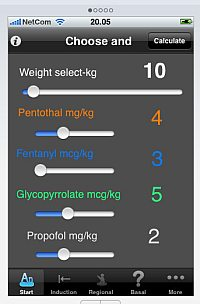 eAnesthesia - an iPhone App