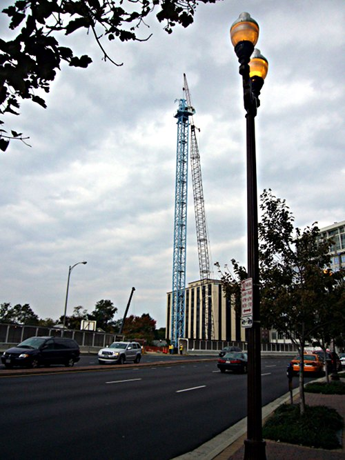 We have a new construction crane in the neighborhood.
